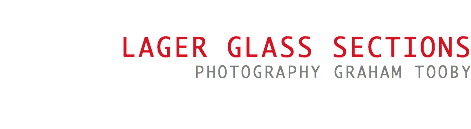 Lager glass sections photography Graham Tooby