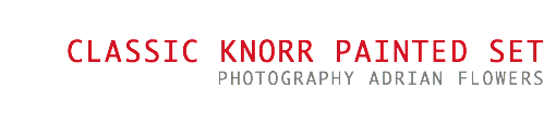 Classic Knorr painted set photography Adrian Flowers